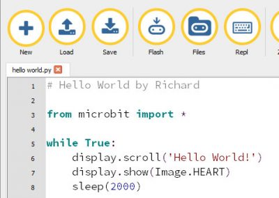 Hello World – micro:bit MicroPython with Mu